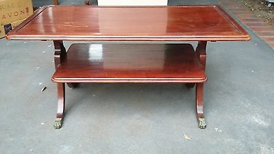 French polished 2 tier side table