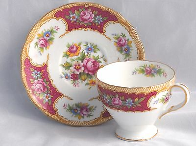 Vintage E Brain Foley China TUDOR Demitasse Cup & Saucer Set (up to 6 avail)