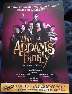 The Addams Family UK Tour Flyer