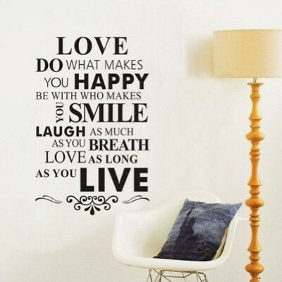Love Quotes Wall Decal Mural Sticker DIY Art Removable Vinyl Home Decor Stickers