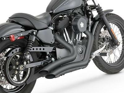 Vance & Hines Big Radius 2-2 Full Exhaust Black Harley XL1200N 07-12