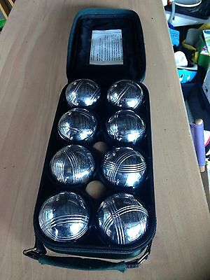 Classic French Game Deluxe 8 Alloy Ball Boule Set