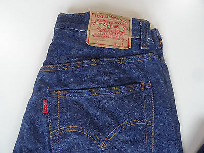 Vintage 80ies dark blue raw Levis 501 no redline, no big e button #311