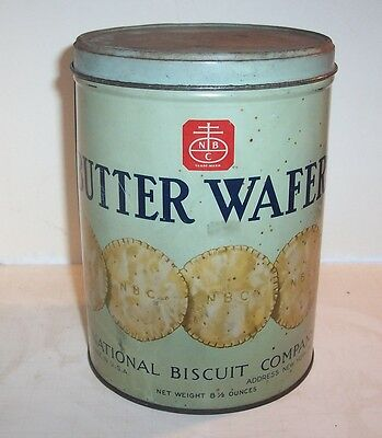 "National Biscuit Co. -  New York, N. Y. - Can - Net Wgt. 8.5"" - ""BUTTER WAFERS"""