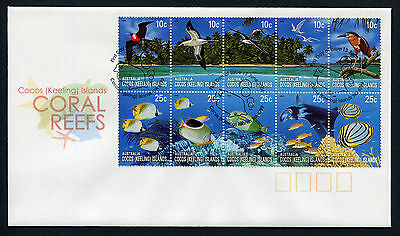2006 Cocos (Keeling) Islands Coral Reefs FDC First Day Cover Stamps Australia