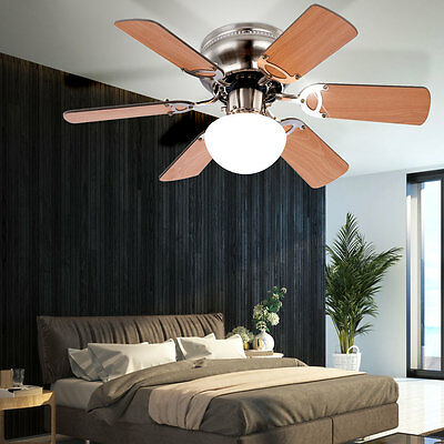 GLOBO 0307 CEILING VENT 76 cm with light Pull switch Blades Fan lamp new
