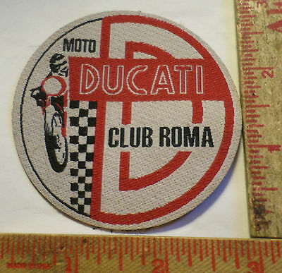"Vintage Ducati motorcycle patch collectible old ""Moto Club Roma"" memorabilia"