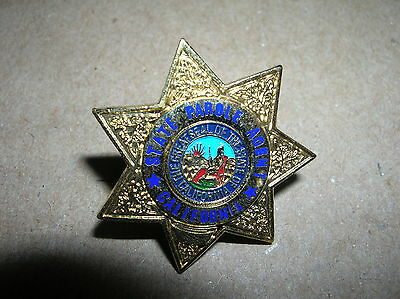 "State of California 1"" Mini GOLD STAR Parole Officer Badge PIN TieTac"