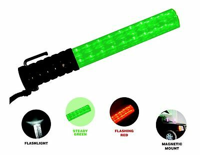 Green & Red Police Security Traffic Safety Led Wand Parking Lot Concert Game