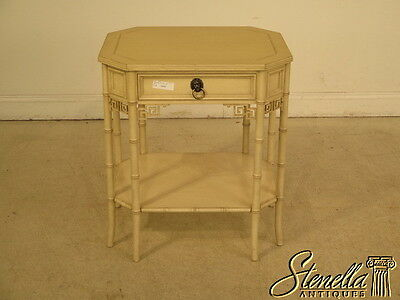 28293:  BAKER Oriental Design 1 Drawer Paint Decorated Stand
