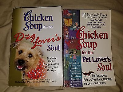 chicken soup for the soul book lot- pets