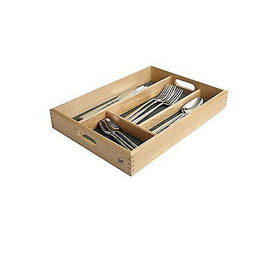 Expandable Rubberwood Cutlery Tray Drawer Draw Utensil Storage Kitchen Organiser