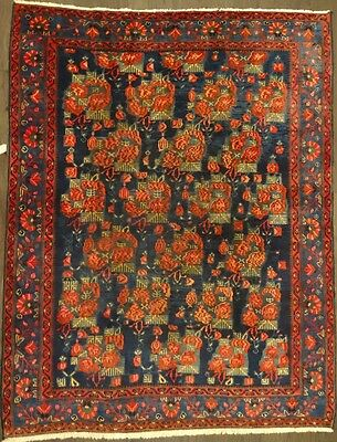 """Cr.1920 Afshar Antique Persian Exquisite Hand Made Rug 5' 1"""" x 6' 7"""""""