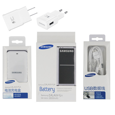 Genuine EB-BG900BBC Samsung Galaxy S5 i9600 SM-900 Battery Charger Cable Adapter
