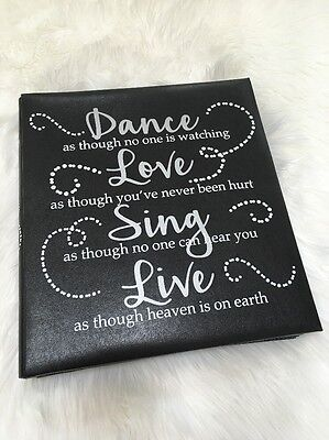 TYM photo album 500 large 4x6 family Love life travel memories Dance Sing black