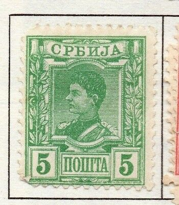Serbia 1890 Early Issue Fine Mint Hinged 5p. 157183
