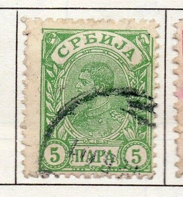 Serbia 1894 Early Issue Fine Used 5p. 157196