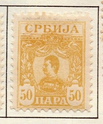 Serbia 1901 Early Issue Fine Mint Hinged 50p. 157207
