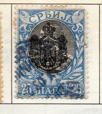 Serbia 1903-1904 Early Issue Fine Used 25p. 157209
