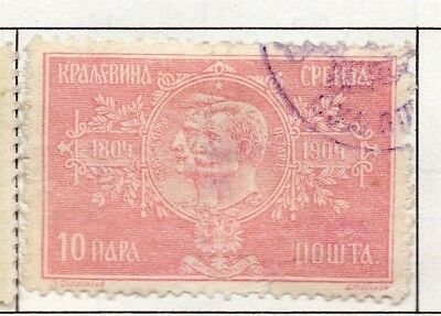 Serbia 1903-1904 Early Issue Fine Used 10p. 157211