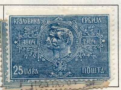 Serbia 1903-1904 Early Issue Fine Mint Hinged 25p. 157212