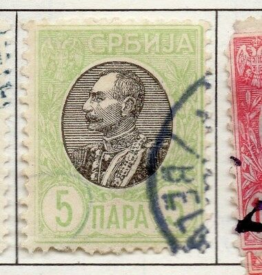 Serbia 1903-1904 Early Issue Fine Used 5p. 157219