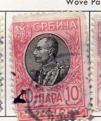 Serbia 1903-1904 Early Issue Fine Used 10p. 157220