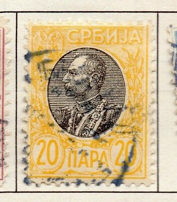 Serbia 1903-1904 Early Issue Fine Used 20p. 157222