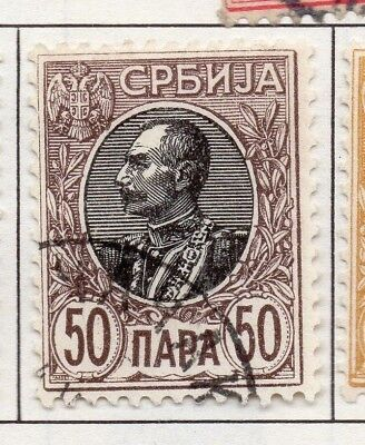 Serbia 1903-1904 Early Issue Fine Used 50p. 157225