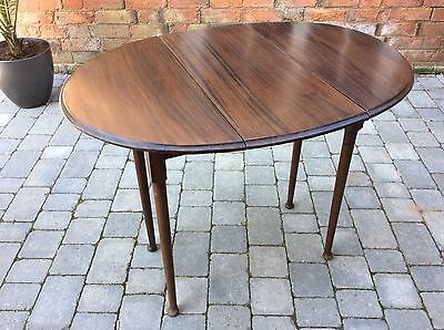 Antique GEORGIAN MAHOGANY Oval DROP LEAF Coffee Occasional Side TABLE