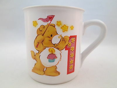 Care Bears small coffee mug 4 oz. first birthday dated 1985