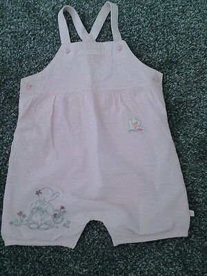 Baby Girl Playsuit/romper In Pink Broidere Anglais - Age 3-6 Months- Worn Once
