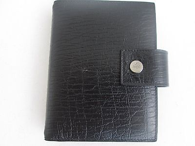 "Authentic New Gucci Black Leather Address Book. 5-1/2"" X 4-1/4"". Italy"