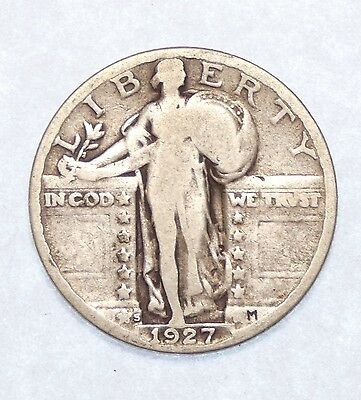 1927-S Standing Liberty Quarter GOOD Silver 25-Cents