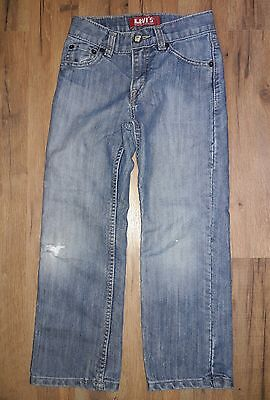Boys Levis 514 Slim Straight Denim Blue Jeans Size 7x Regular