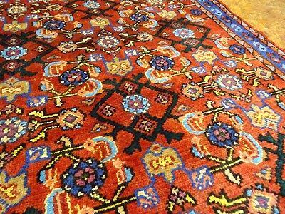 "C 1930 Hamadan Antique Persian Exquisite Hand Made Rug 2' 11"" x 5' 10"""