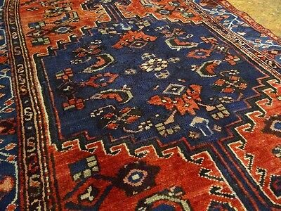 "C 1930 Kurdish Antique Persian Exquisite Hand Made Rug 3' 3"" x 6' 6"""