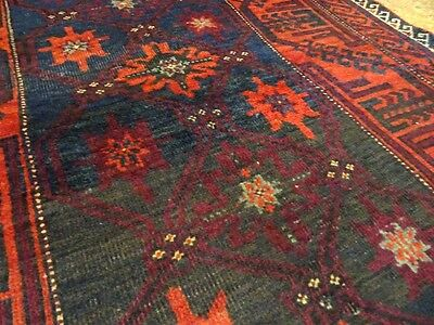 "C 1930 Baluch Khorassan Antique Persian Exquisite Hand Made Rug 2' 11"" x 6' 4"""