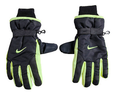 NIKE Youth Thinsulate Black WINTER SNOW SKI GLOVES (8-20) #9A2255 NWT