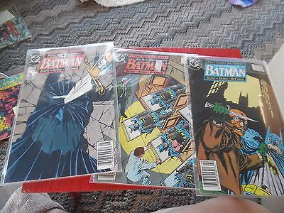 3 Vintage DC   comic book- The many tales of Batman complete set of 3