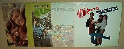 The Monkees - Record Flat lot of four different -S/T,More of,Headquarters,Pisces