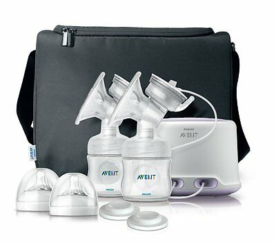 Philips Avent Comfort Double Electric Breast Pump System SCF334/12 NEW
