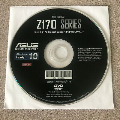 """NEW"" ASUS Z170 Series Motherboard Drivers Installation DVD"