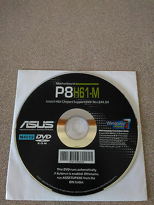 """NEW"" ASUS P8H61-M Motherboard Drivers Installation DVD"