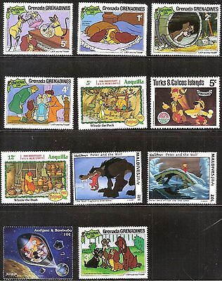 Disney Collection of 11 Mint Never Hinged Stamps Lot #1