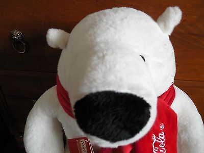 Large Coca Cola Plush Bear