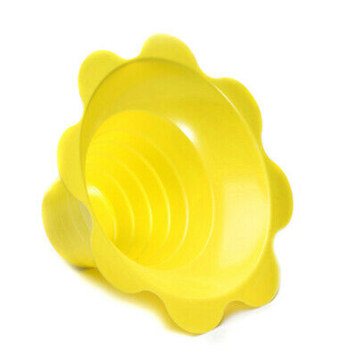 Small Shaved Ice Sno Cone Flower Cups (4 OZ) 1000 Count Yellow