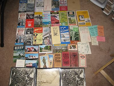 Mixed Lot #2- 50 Old Ephemera, Travel Brochures,Guides, Post Cards, Pictures ETC