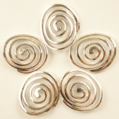 5pcs Tibetan Silver Hollow Mosquito-repellent incense Pendant Bead 32x28x2mm