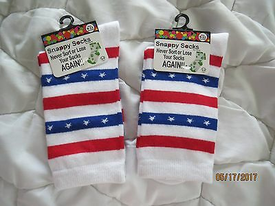 New 2 pair Snappy Socks for 4th of July! Size Womens 9-11!